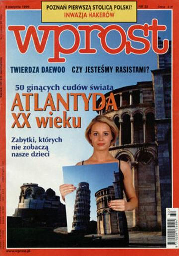Okładka tygodnika Wprost nr 32/1999 (871)
