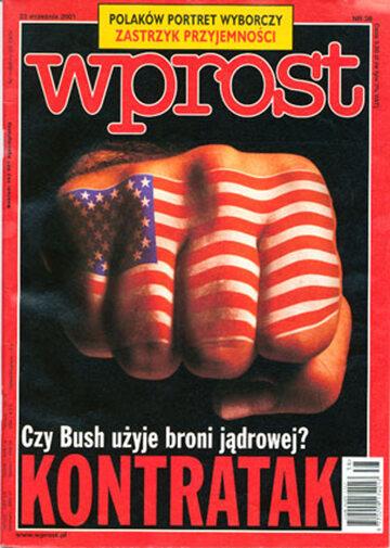 Okładka tygodnika Wprost nr 38/2001 (982)