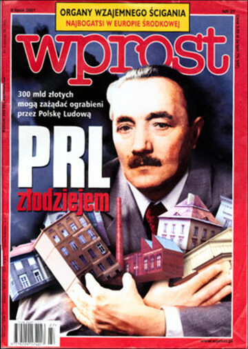 Okładka tygodnika Wprost nr 27/2001 (971)