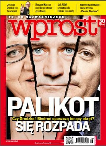 Okładka tygodnika Wprost nr 29/2012 (1535)
