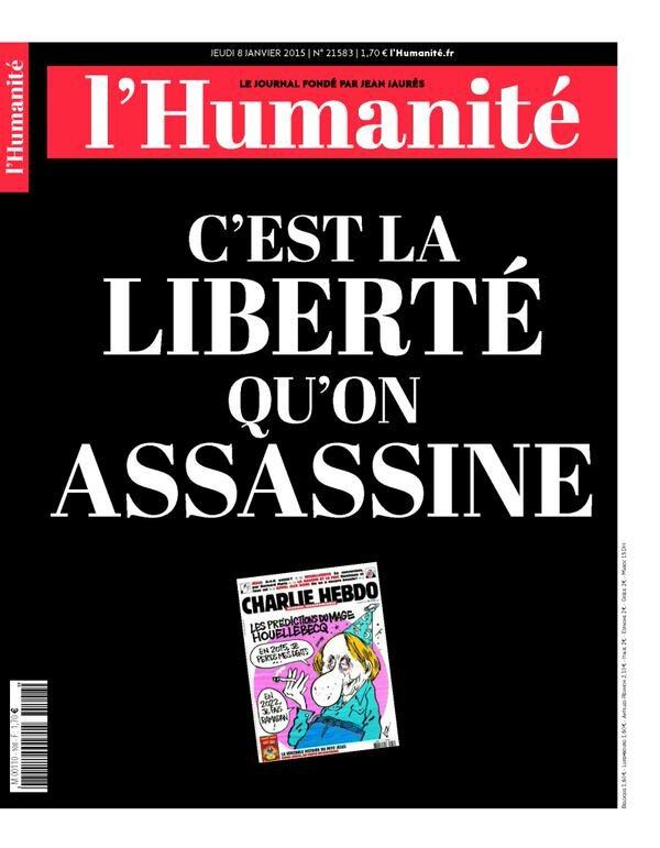 """l'Humanite - """"To jest wolność, którą mordowano"""""""