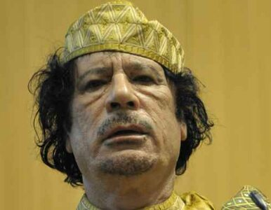 Kadafi zasłoni się żywymi tarczami?