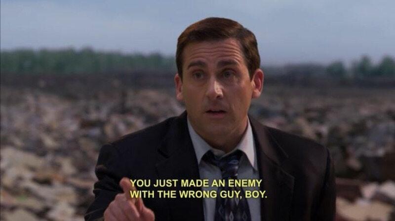 """Kadr z serialu """"The Office""""/""""Biuro"""""""