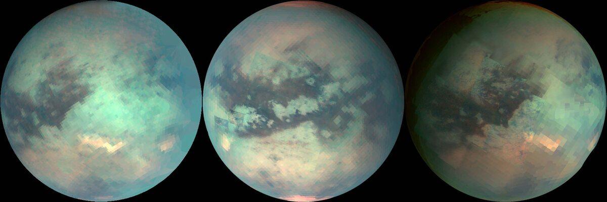 Tytan na zdjęciach wykonanych przez sondę Cassini