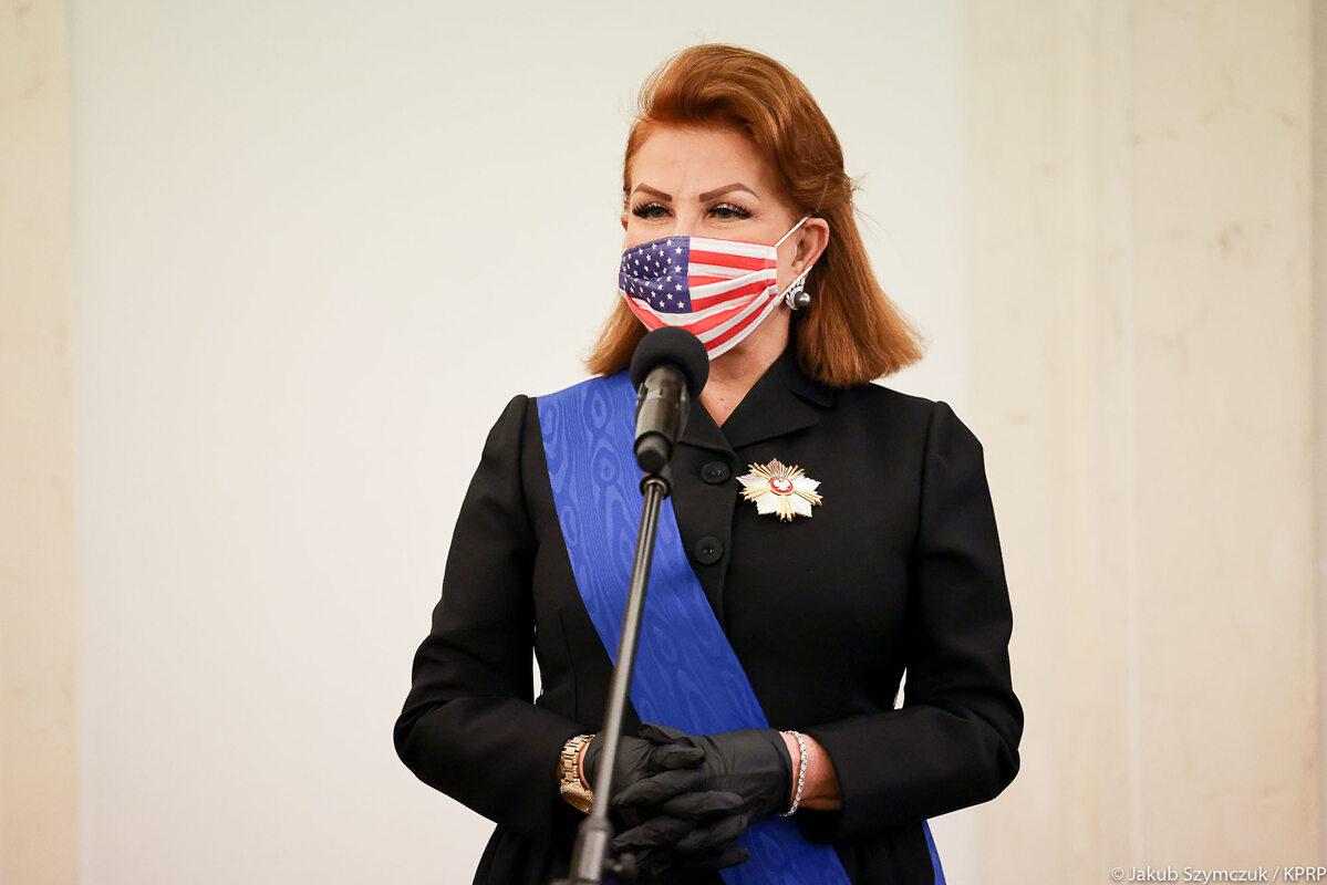 Georgette Mosbacher w Pałacu Prezydenckim