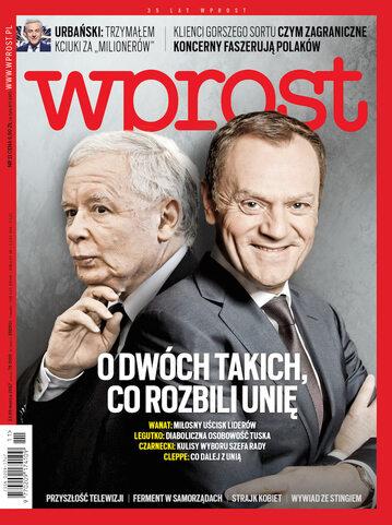 Okładka tygodnika Wprost nr 11/2017 (1778)