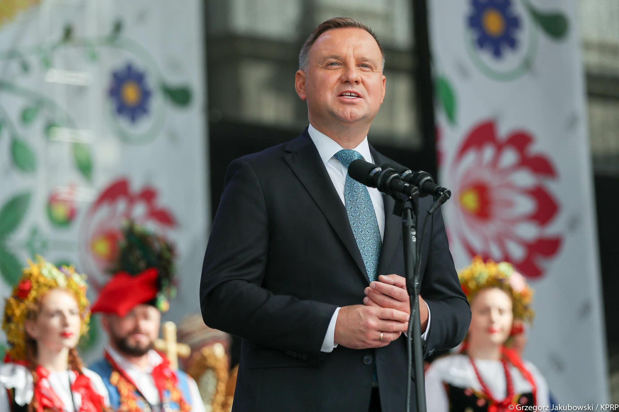 Andrzej Duda na Dożynkach Prezydenckich w Warszawie