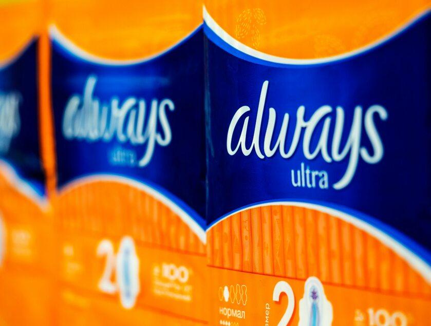 Podpaski Always, zdjęcie ilustracyjne