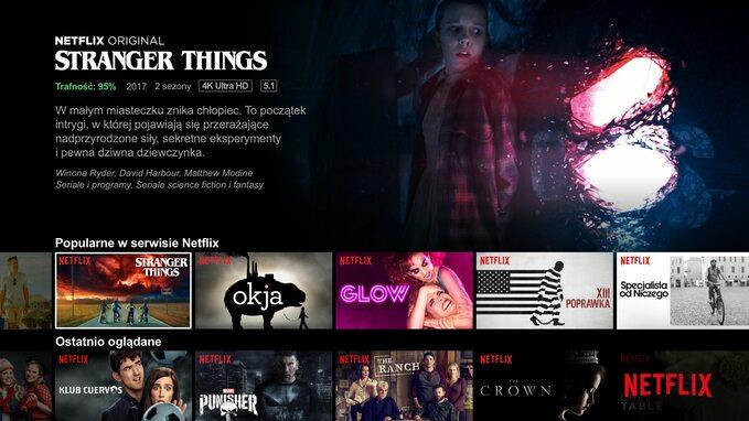 Screen ekranu startowego wplatformie Netflix