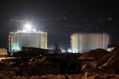 Budowa zbiornika na gaz w Świnoujściu