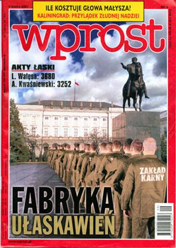 Okładka tygodnika Wprost nr 9/2001 (953)