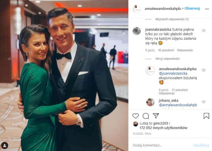 Anna Lewandowska wyjaśniła swój gest naInstagramie