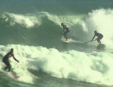Huragan nie odstrasza surferów w Kalifornii. Fale kuszą i zabijają