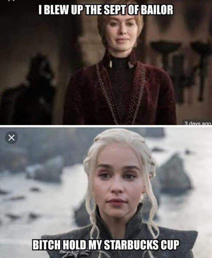 """Mem komentujący przemianę Daenerys Targaryen w """"Grze o tron"""""""