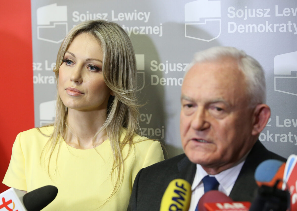 Magdalena Ogórek w 2015 roku z Leszkiem Millerem