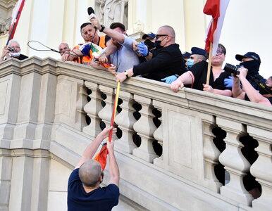 Prowokacje i zrywane flagi LGBT. Incydenty na trasie Marszu Powstania...