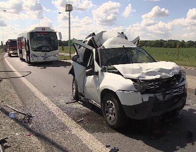 Autobus, ciężarówka i dwie osobówki. Wypadek pod Wrocławiem