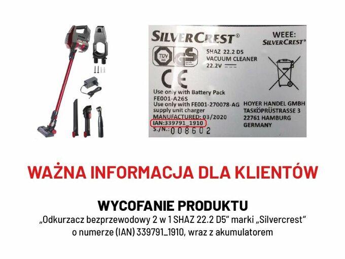 Informacja owycofaniu produktu zsieci Lidl