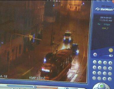 Łódzka policja szuka złodzieja tramwaju. Sprawdzają nagrania monitoringu