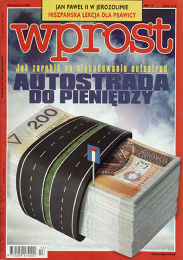 Okładka tygodnika Wprost nr 13/2000 (904)