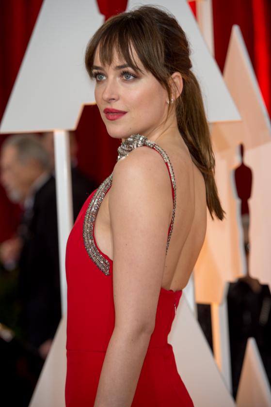 Dakota Johnson podczas 87. ceremonii rozdania Oscarów w 2015 roku