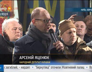 Arsenij Jaceniuk: Chcą utopić Ukrainę we krwi. Nie cofniemy się