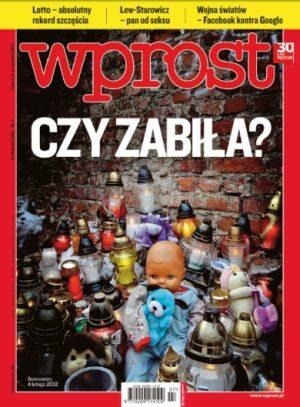Okładka tygodnika Wprost nr 7/2012 (1513)