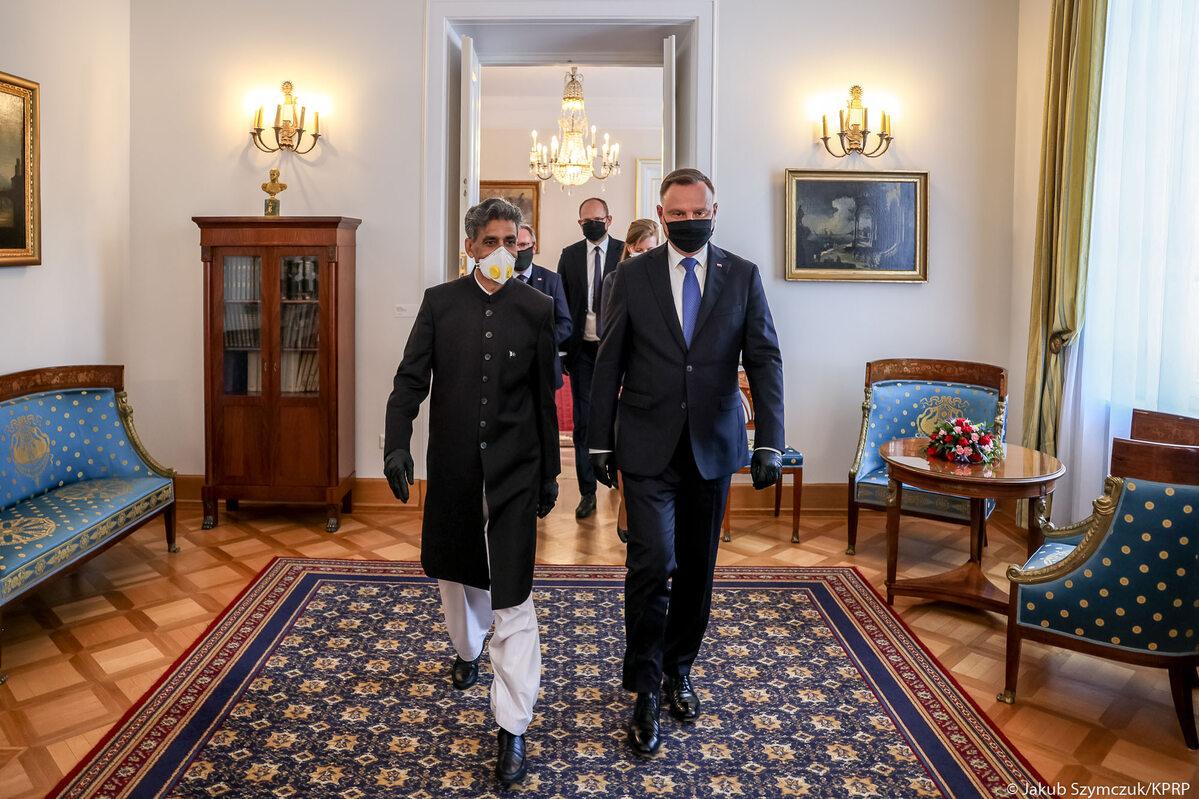 Andrzej Duda i ambasador Islamskiej Republiki Pakistanu w RP