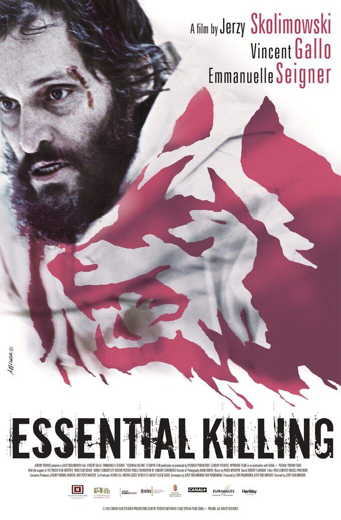 """Plakat dofilmu """"Essential Killing"""" Jerzego Skolimowskiego"""