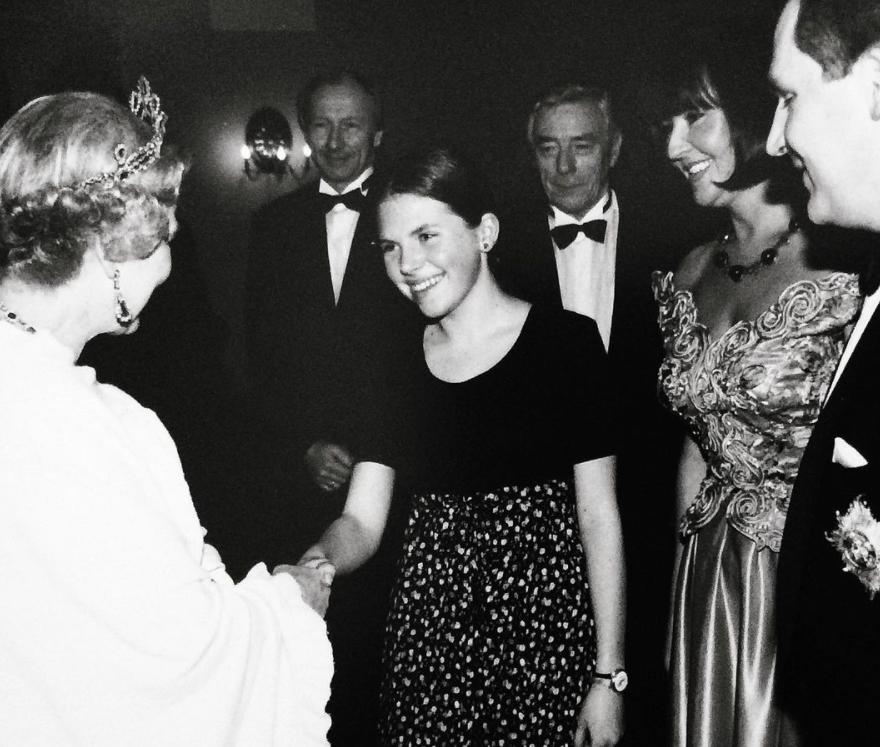 Aleksandra Kwaśniewska u królowej Elżbiety II Aleksandra Kwaśniewska na audiencji u królowej
