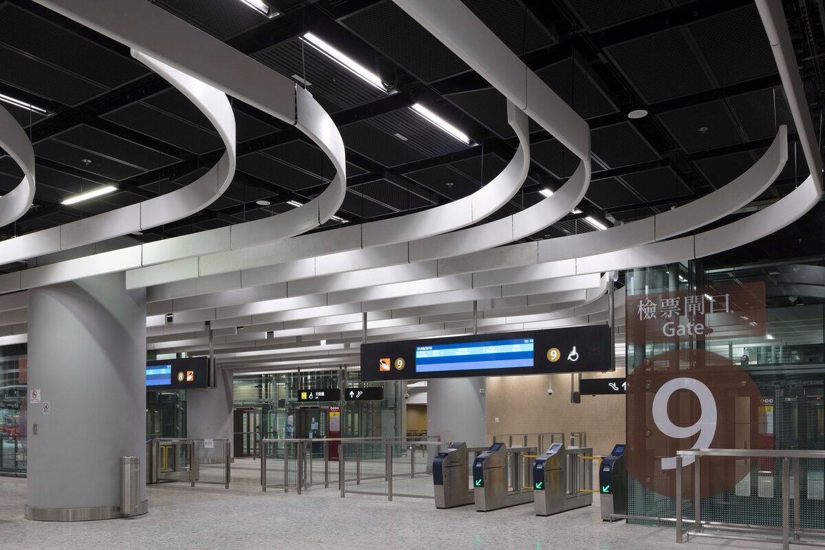 Dworzec w Hongkongu Nowy dworzec w Hongkongu