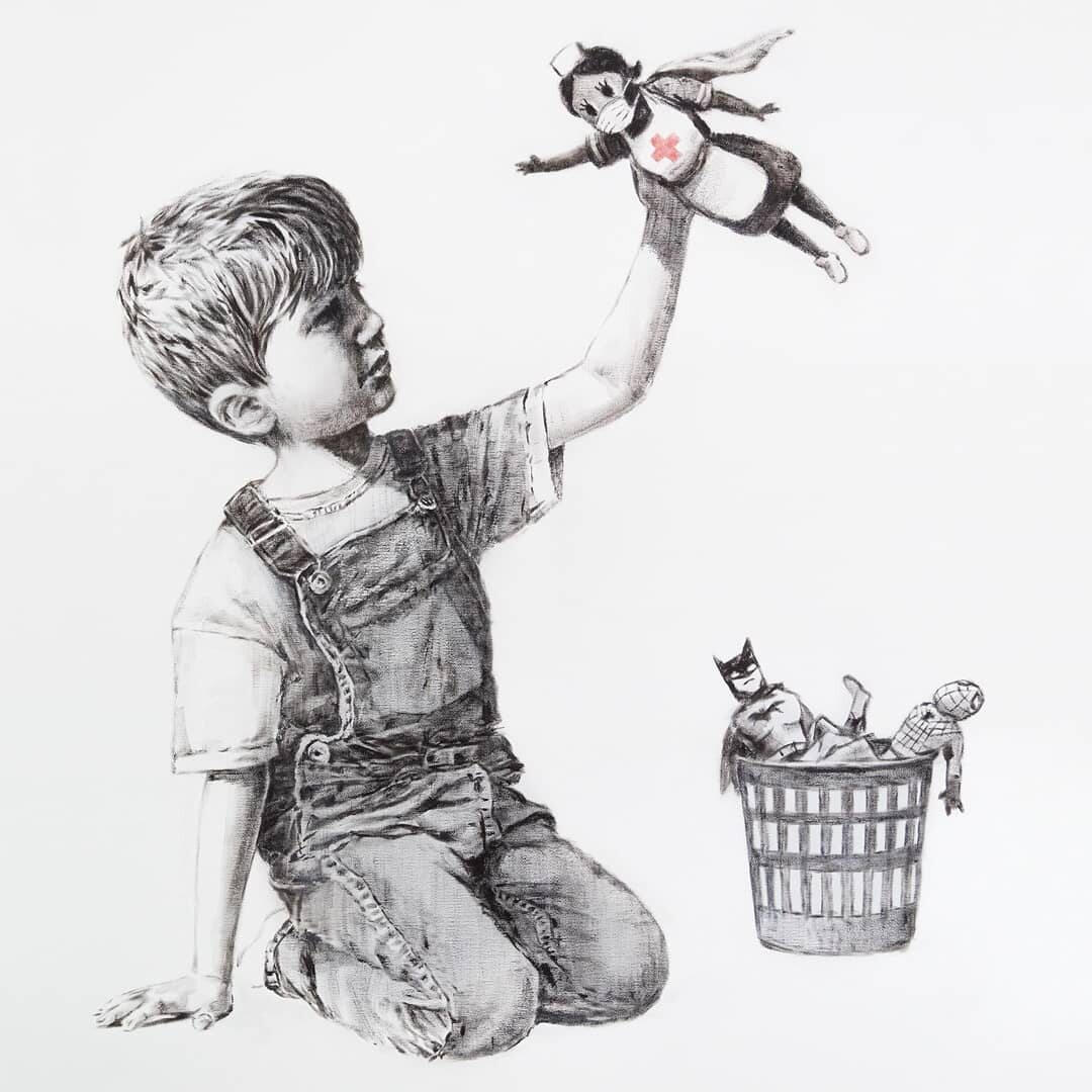 Banksy oddał hołd lekarzom w trakcie pandemii