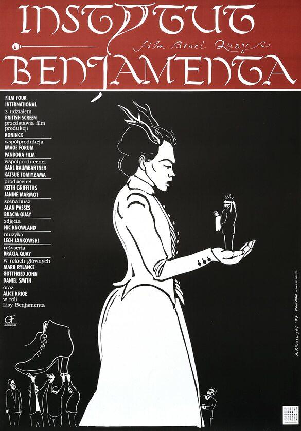 """Plakat Andrzeja Klimowskiego do filmu """"Instytut Benjamenta"""""""
