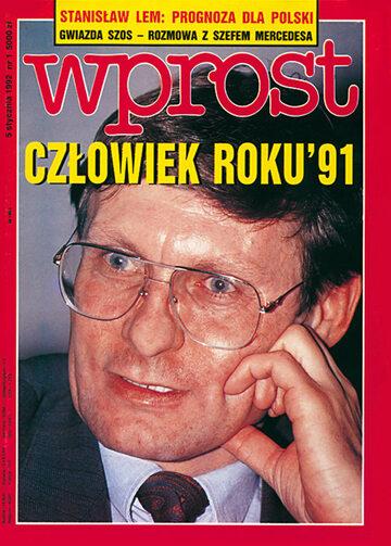 Okładka tygodnika Wprost nr 1/1992 (476)