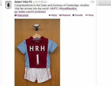 """Kolejny prezent dla """"Royal baby"""". Aston Villa przygotował specjlaną..."""