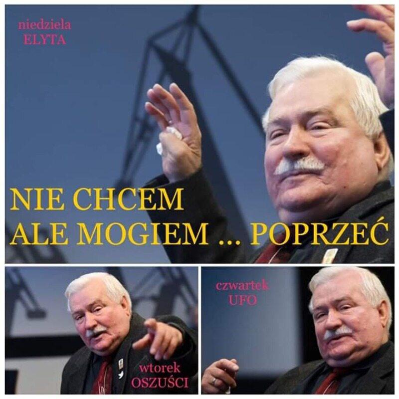 Mem z Lechem Wałęsą