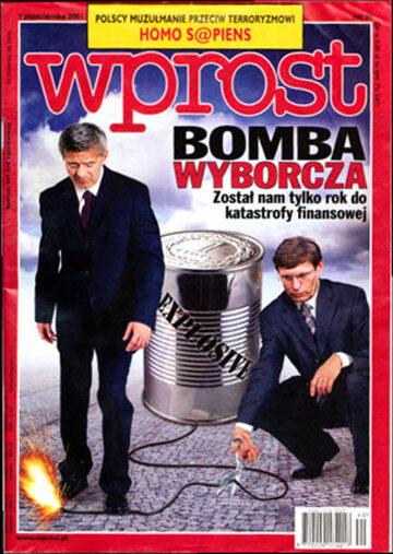 Okładka tygodnika Wprost nr 40/2001 (984)