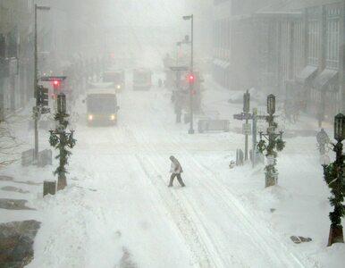 Gigantyczna burza śnieżna nad Wschodnim Wybrzeżem USA. 18 mln ludzi...