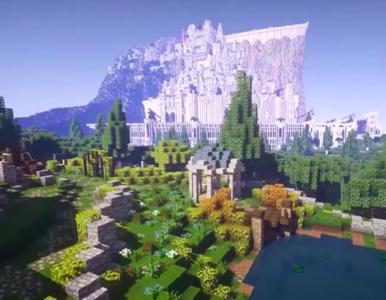 """Fani odtworzyli Śródziemie z """"Władcy Pierścieni"""" w grze """"Minecraft""""...."""