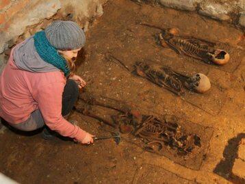 Podczas remontu szkoły odkryto szczątki 60 osób