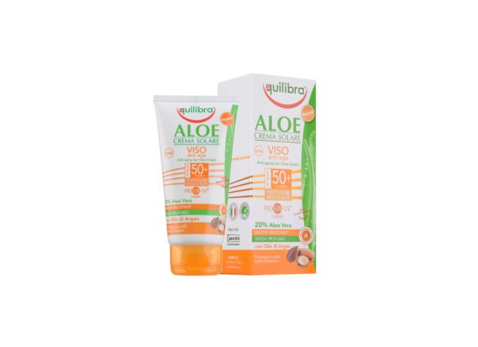 Przeciwzmarszczkowy krem przeciwsłoneczny Equilibra® Aloe SPF 50+