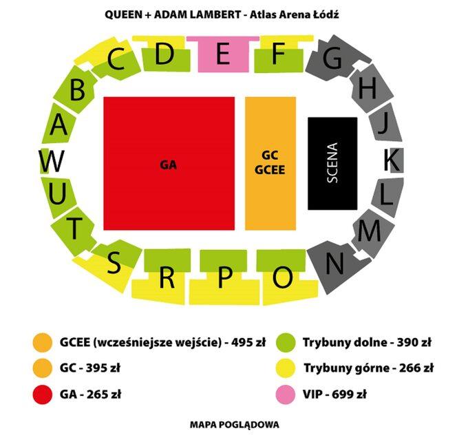 Atlas Arena -ceny biletów