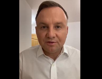 """Andrzej Duda zakażony, nagrał film z izolacji. """"Chciałem przeprosić..."""