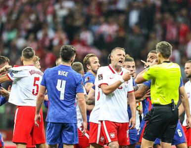 Awantura podczas przerwy meczu Polska – Anglia. Sędzia rozdał dwie kartki