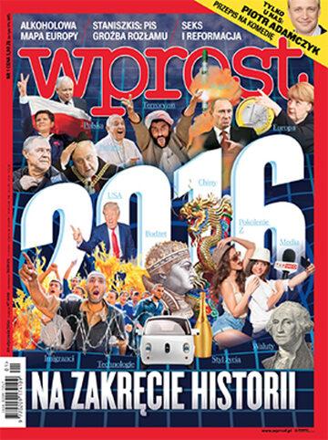 Okładka tygodnika Wprost nr 1/2016 (1718)