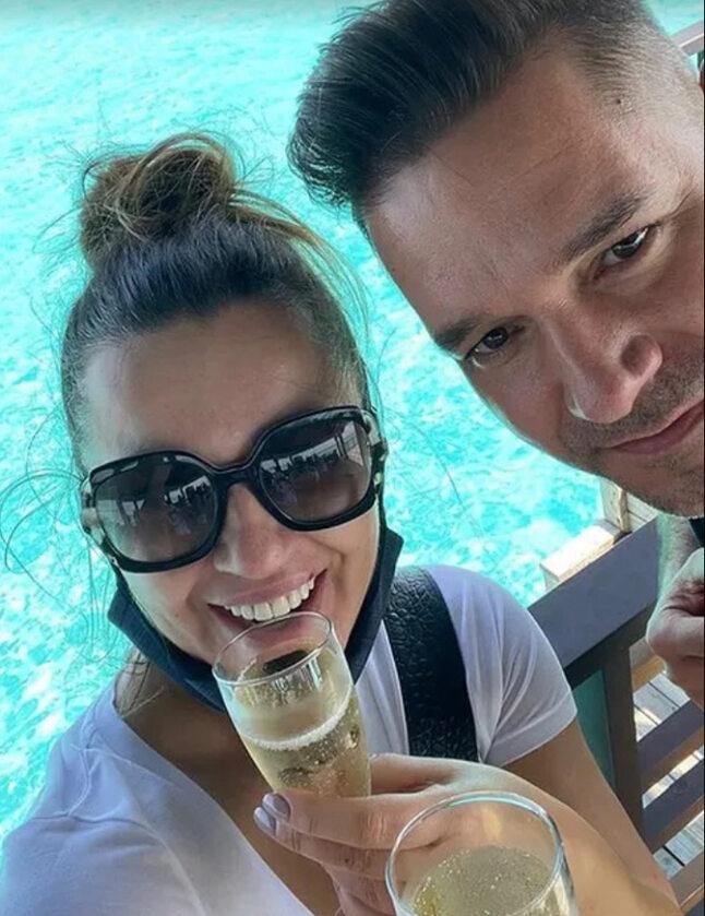 Beata Tadla i jej mąż w podróży poślubnej