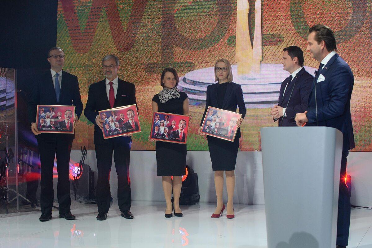 Prezes PFR Paweł Borys, ministrowie: Jerzy Kwieciński, Jadwiga Emilewicz i Teresa Czerwińska