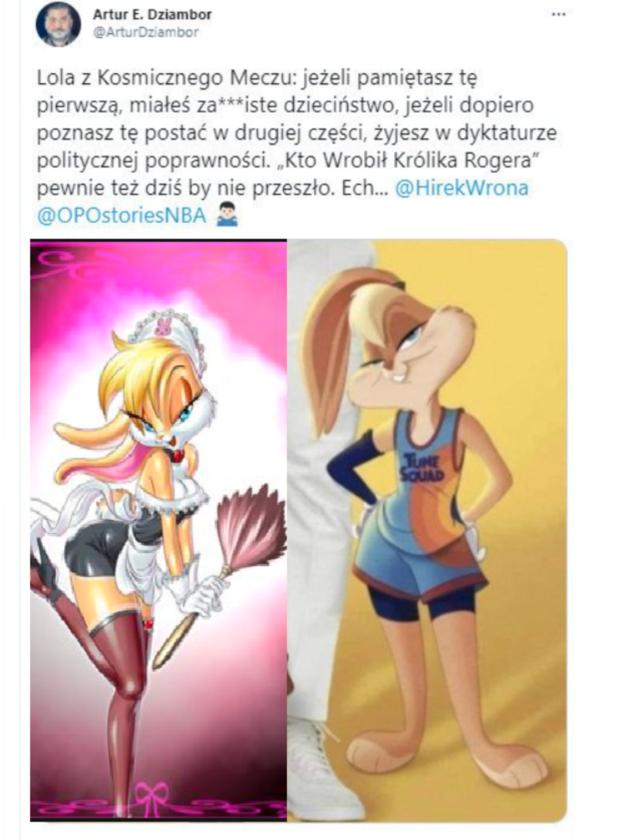 """Mem komentujący awanturę o Lolę z """"Kosmicznego meczu"""""""