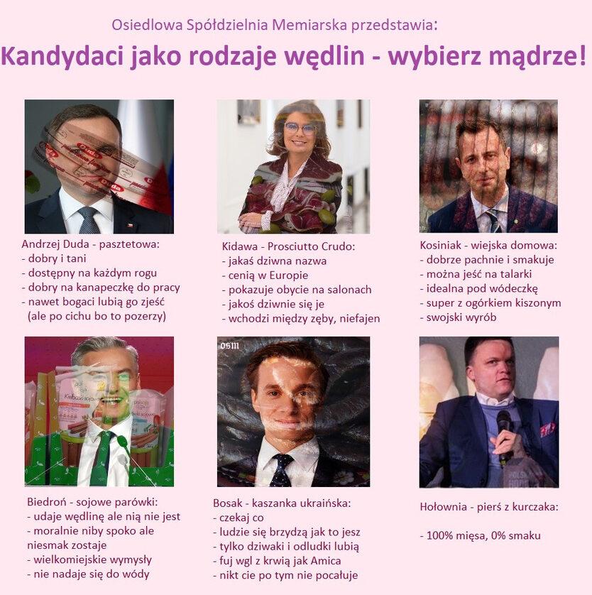 Kandydaci porównani do wędlin