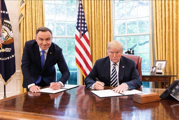 Podpisanie deklaracji polsko-amerykańskiej